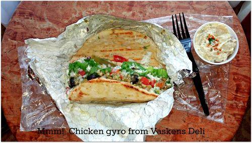 Anniversary vaskens deli chicken gyro