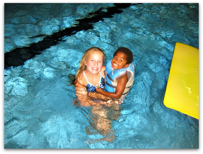 Summer camp swimming fun