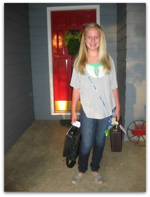 Becca's first day of 7th grade