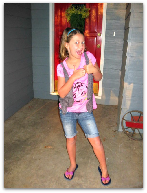 Sara Beth's first day of 2nd grade homeschool