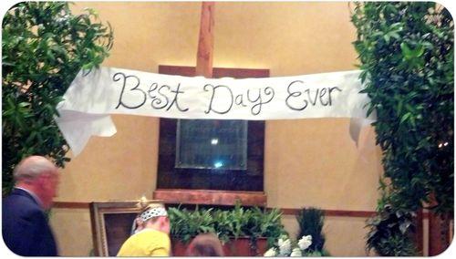 Labor day weekend wedding best day sign