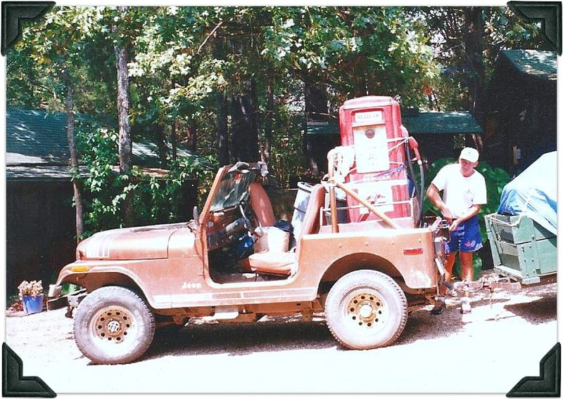 Dave with jeep and old junk pic