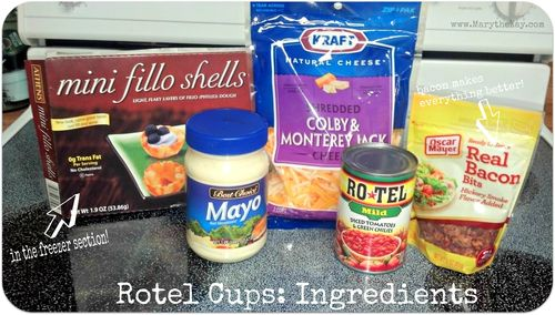 Rotel Cups ingredients