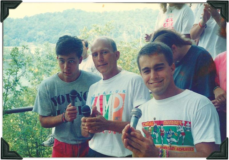 Dave old camp picture with friends pic