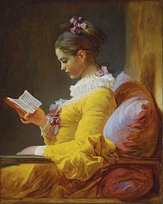 A Young Girl Reading by Fragonard