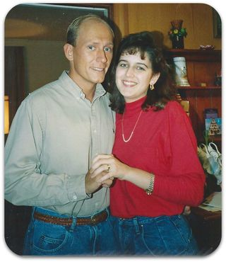 Dave and MK engagement pic 1990