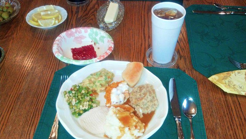 Thanksgiving dinner 2012