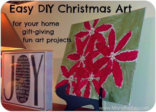 Easy DIY Christmas Art Projects