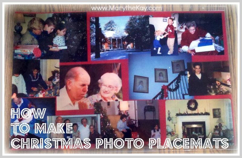 Christmas Photo Placemats how to button
