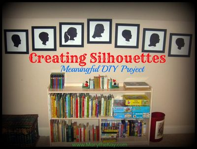 Creating Silhouettes DIY project