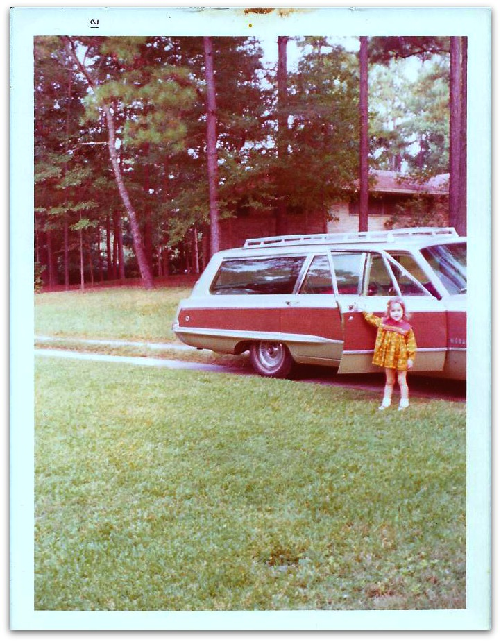 This is a picture of a retro station wagon