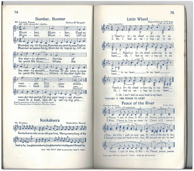 Old Camp Fire Music Makers song book Kookaburra