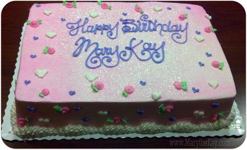 Birthday cake perfection from Ricks Bakery