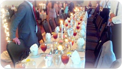 Labor day weekend wedding table