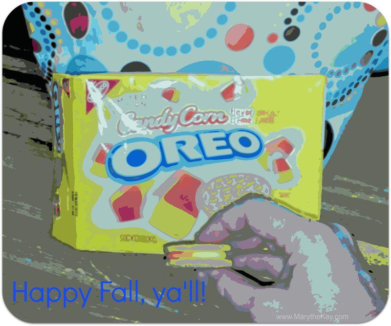 Candy Corn Oreos retro poster