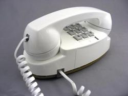 Old white Princess phone