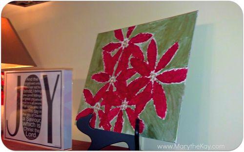 Christmas art pointsettia painting