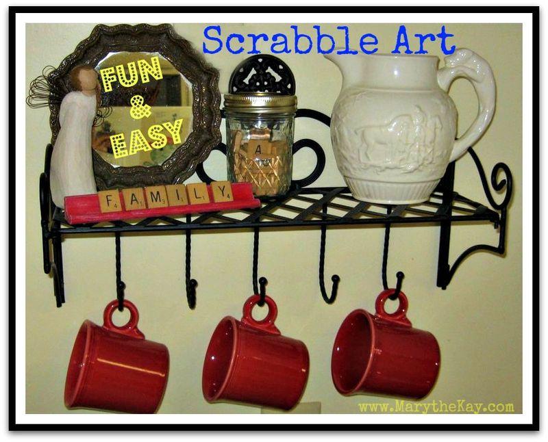 Scrabble Tile Craft Project DIY