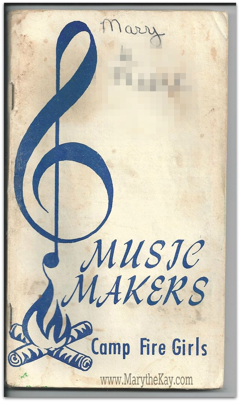 Old retro Camp Fire Girls Music Makers song book