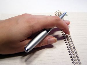 Pen and paper to write