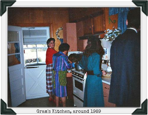 Cooking in Grams kitchen 1989