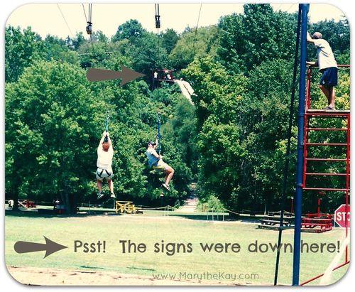 K-1 kanakuk zipline engagement picture3