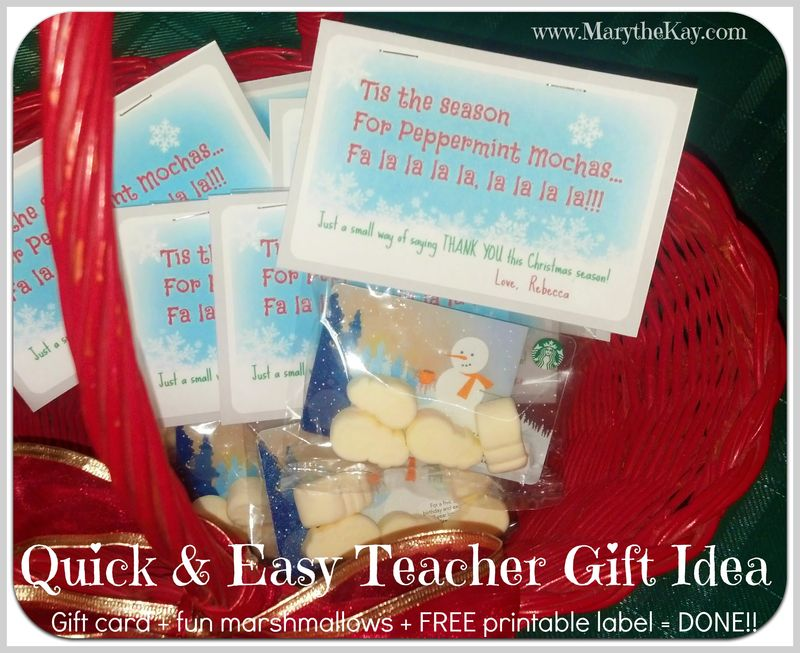 Quick and Easy Teacher Gift Idea for Christmas