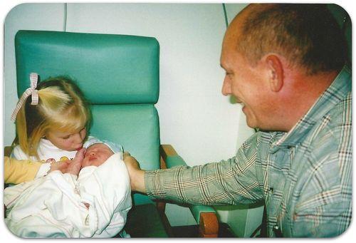 Sara Beth Becca and Daddy 2004
