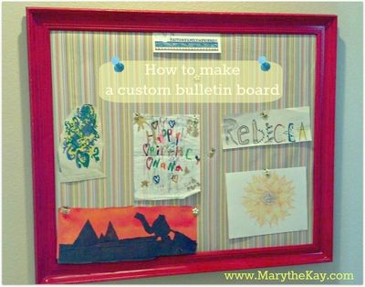 How to make a custom bulletin board