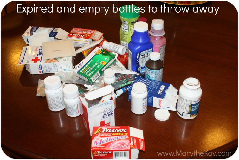 Cleaning out the medicine cabinet expired meds