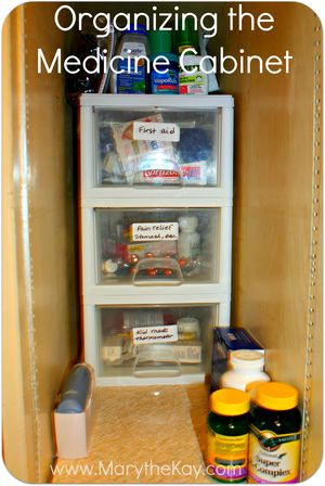 Organizing the medicine cabinet