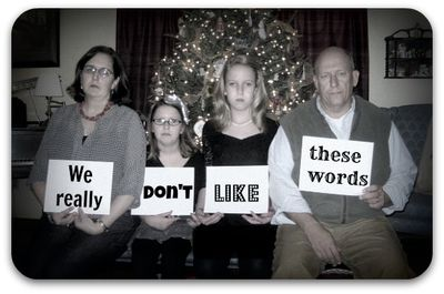 Funny family with words