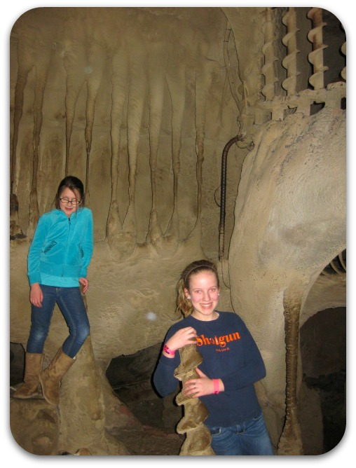 St Louis City Museum caves are hands on