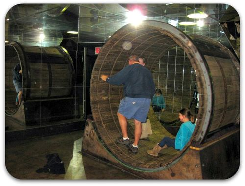 St Louis City Museum human hamster wheel