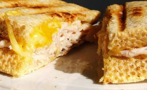 Turkey sandwich panini